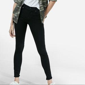 Express Black Mid Rise Jean Legging